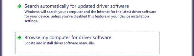 Windows 8: finding and installing drivers