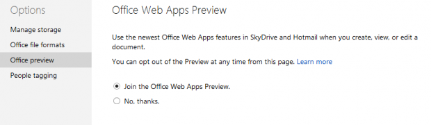 How to enable Office Web Apps Preview